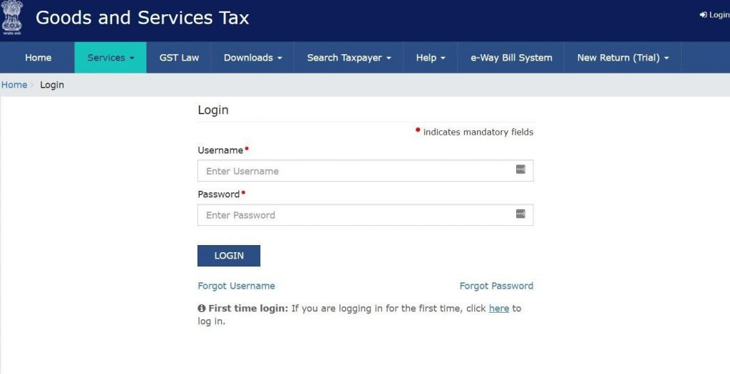 GST Payment process