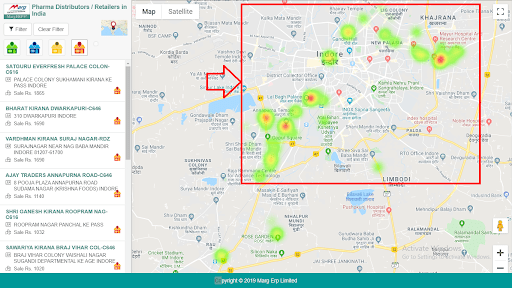 Heat Map on Business Map