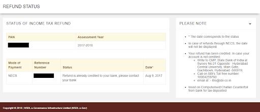 your refund status