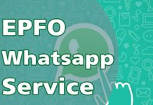 EPFO Whatsapp Service