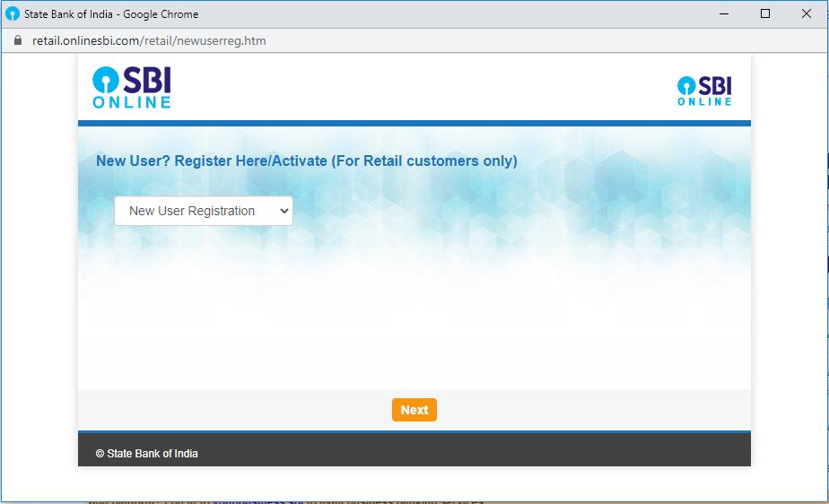sbi net banking registration