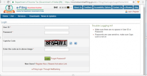 Log in to the e-filling portal