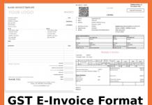 GST E-Invoice Format