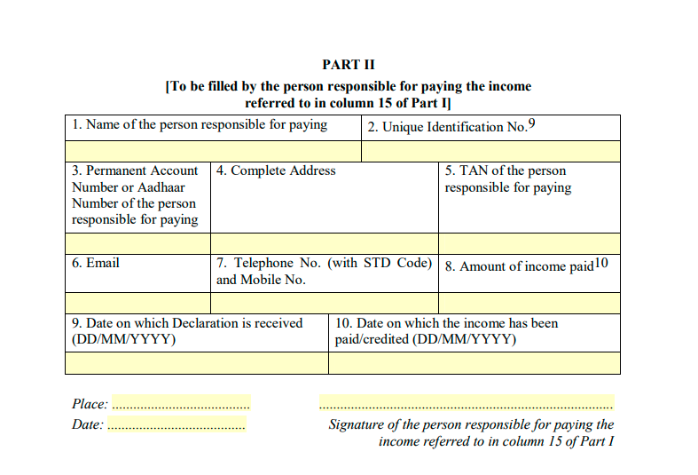sample of form 15h part 2