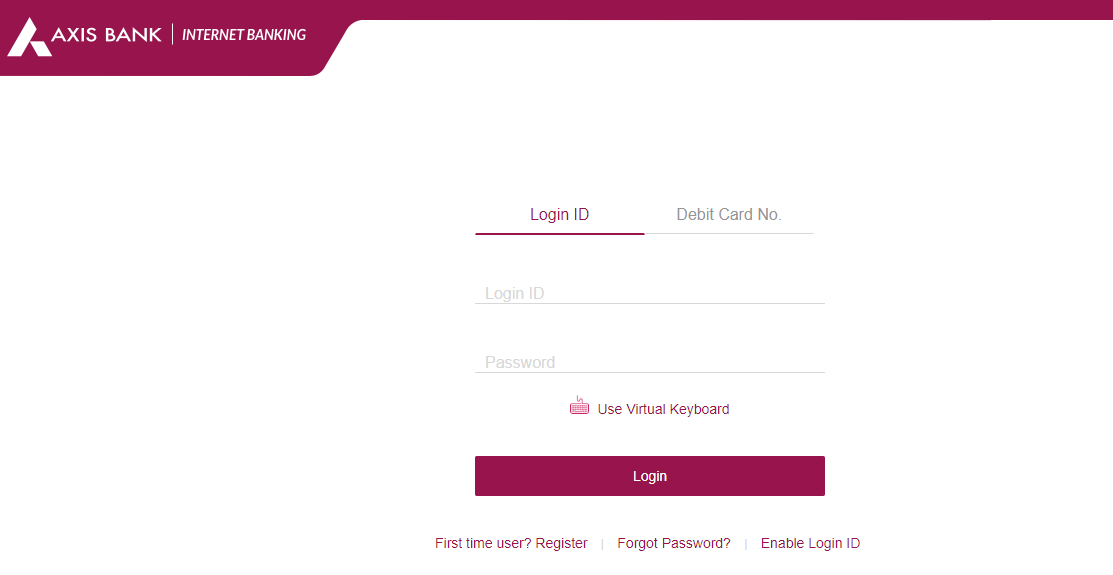 axis bank net banking login